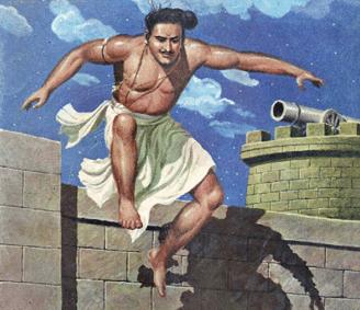 Kalaripayattu warrior