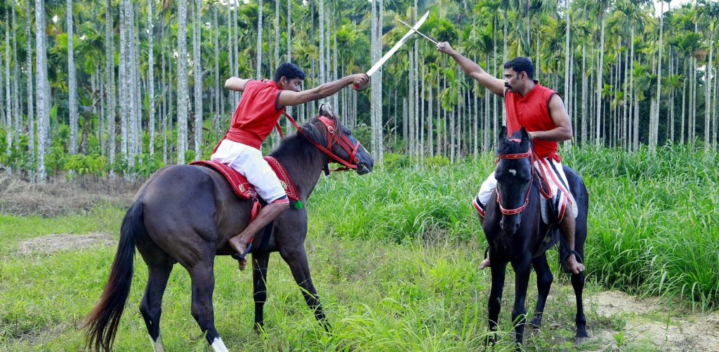kalaripayattu training with horse riding