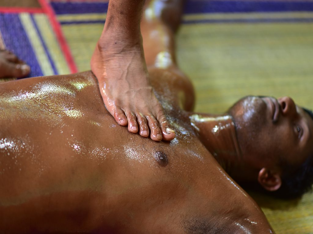 Ayurvedic massage therapy in Kerala