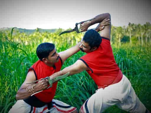 Ankathari is a part of kalaripayattu training